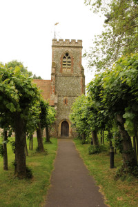 Lime trees to porch St Martins Church